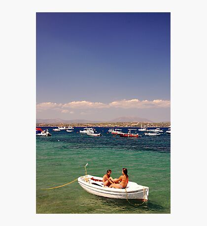 Greek Blue Photographic Print