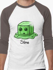 Slime Minecraft Men's Baseball ¾ T-Shirt