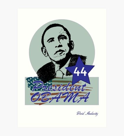 44 OBAMA FLAG DESIGN Art Print
