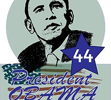 44 OBAMA FLAG DESIGN by VividAudacity