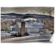 FARM IN SNOW AND SHADOWS Poster
