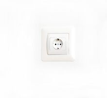 electrical outlet on a white background by tony4urban