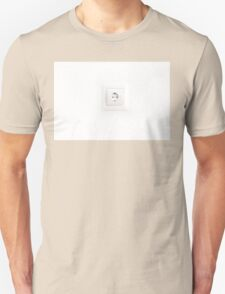 electrical outlet on a white background Unisex T-Shirt