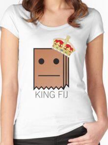 "Mr fijiwiji ""King Fij"" shirt Women's Fitted Scoop T-Shirt"