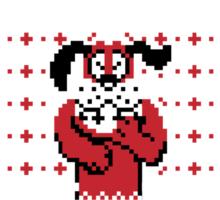 Festive Duck Hunt Sweater Sticker