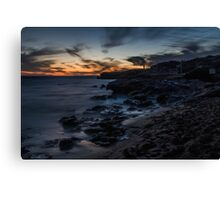 Dusk at Point Peron, Rockingham, Western Australia Canvas Print