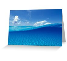 Water line Greeting Card