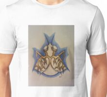 Albino fly with gold wings Unisex T-Shirt