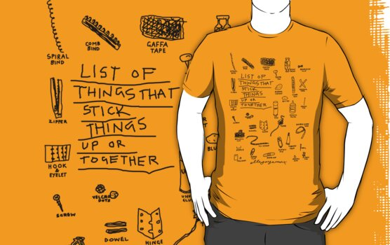 'List of Things that hold things Up or Together' by ellejayerose