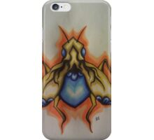 white-gold bug with sapphire stomach iPhone Case/Skin
