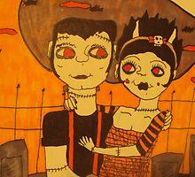 Frankie and his Gal, Original Drawing by DoodledDandies