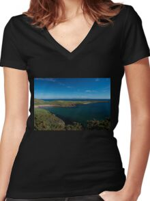 Muckross Head, Donegal, Ireland Women's Fitted V-Neck T-Shirt