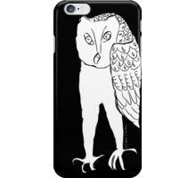 Standing Owl- Black iPhone case iPhone Case/Skin