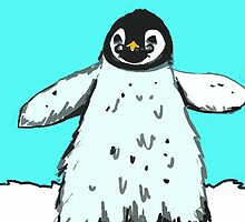 Penguin with moustache by drknice