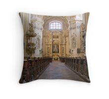 Valtice church interior Throw Pillow