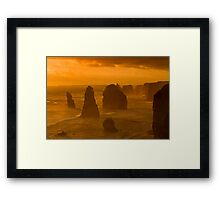 Twelve Apostles Sunset Framed Print