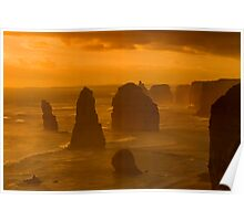 Twelve Apostles Sunset Poster
