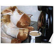 Richard the Donkey - Making a Tea Poster