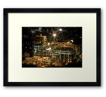 Night Construction Framed Print