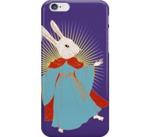Saint Bunny has your back iPhone Case/Skin