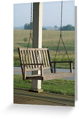 Front Porch Swing by Linda Jackson