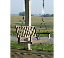 Front Porch Swing Photographic Print