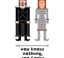 Pixel Jon Snow and Ygritte - Game of Thrones by Sergey Vozika