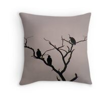 Turkey Vultures Throw Pillow