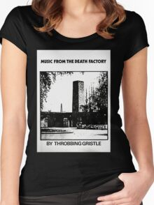Throbbing Gristle Music From The Death Factory Women's Fitted Scoop T-Shirt