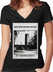 Throbbing Gristle Music From The Death Factory Women's Fitted V-Neck T-Shirt