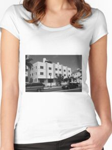 Miami Beach - Art Deco Women's Fitted Scoop T-Shirt