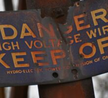 Danger-High Voltage Sticker