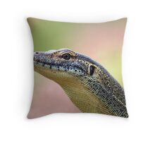 Water Monitor Throw Pillow
