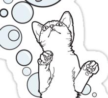 Cat Fish Bubble Sticker