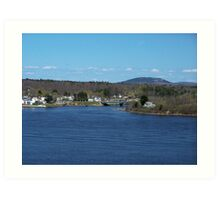 New England Town Art Print