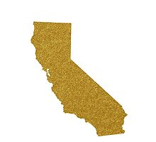 Gold California map by AnnaGo