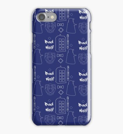 Dr Who Pattern iPhone Case/Skin