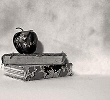 Vintage Books with Apple by suzannem73