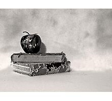 Vintage Books with Apple Photographic Print