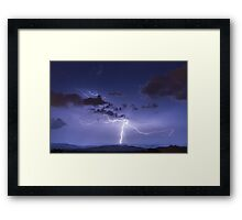 Lightning Strike to Ground Featuring Anvil Crawlers Framed Print