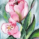 GARDEN TULIPS by Marsha Woods
