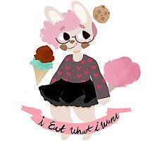 food bunny Photographic Print