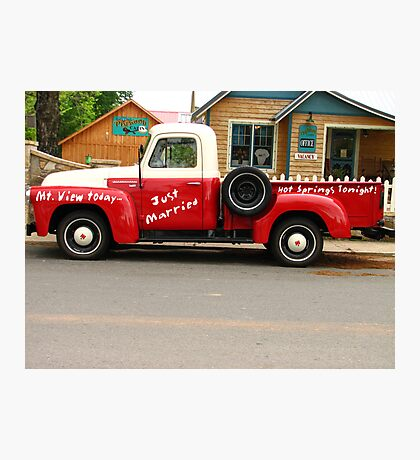 Hillbilly Limo Photographic Print