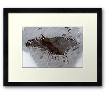 Freezing Stream Framed Print
