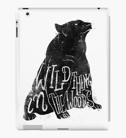 Wild Thing in the Woods iPad Case/Skin