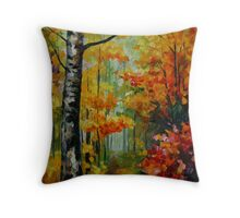 SOUL TIME limited edition giclee of L.AFREMOV painting Throw Pillow