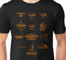 Blimp dirigible airship zeppelin fly green  Unisex T-Shirt