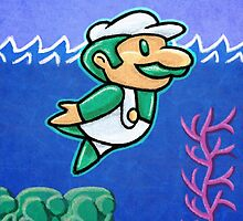 Luigi Swimmin' by likelikes