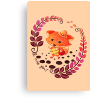 Hello, Miss Fox! Canvas Print