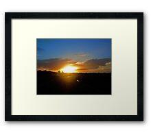 Floridian Sunset Road Framed Print